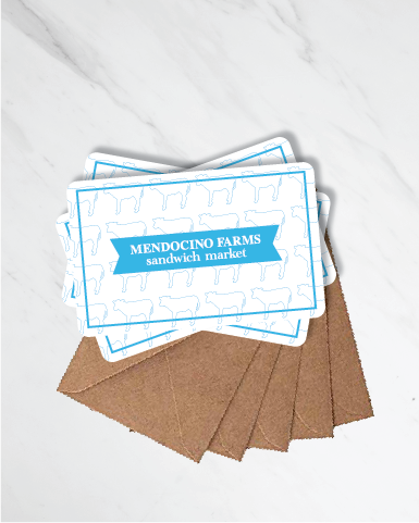 Gift Cards: Mendo Cow Print (Pack of 5)