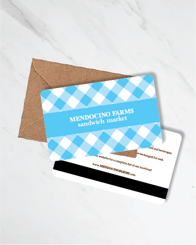 Gift Card: Blue Gingham (Starting at $15)
