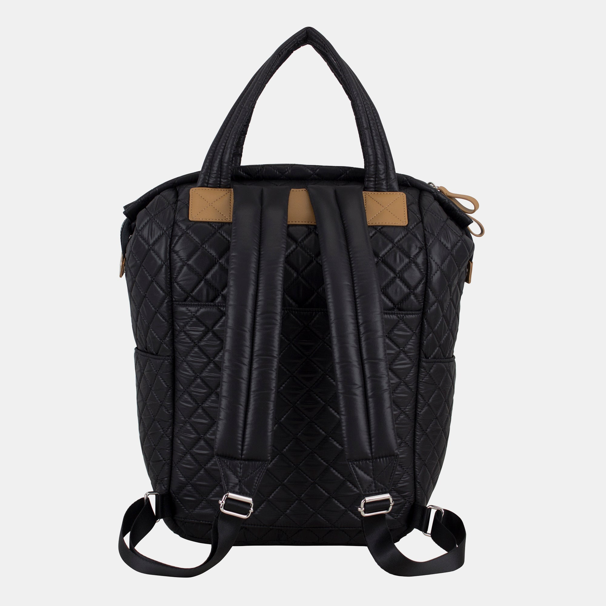 BODHI Quilted Luxe Top Handles Backpack with Trolley Sleeve