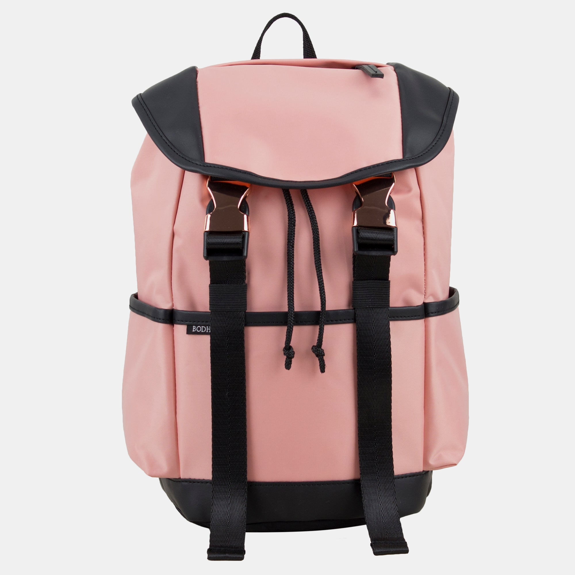 Bodhi Drawstring Backpack With Double Rose Gold Buckles
