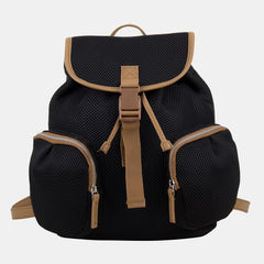BODHI Drawstring Mini Backpack Bag with exterior cargo double zipper pockets