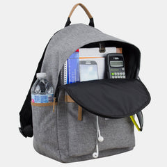 Classic Zipper Backpack With Large Front Exterior Compartment and Comfortable Bag Straps