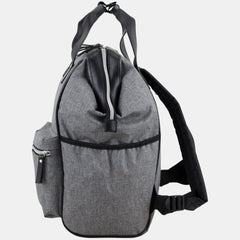 BODHI Doctor Bag Style Top Load Backpack Purse With Front Large Zipper Pockets