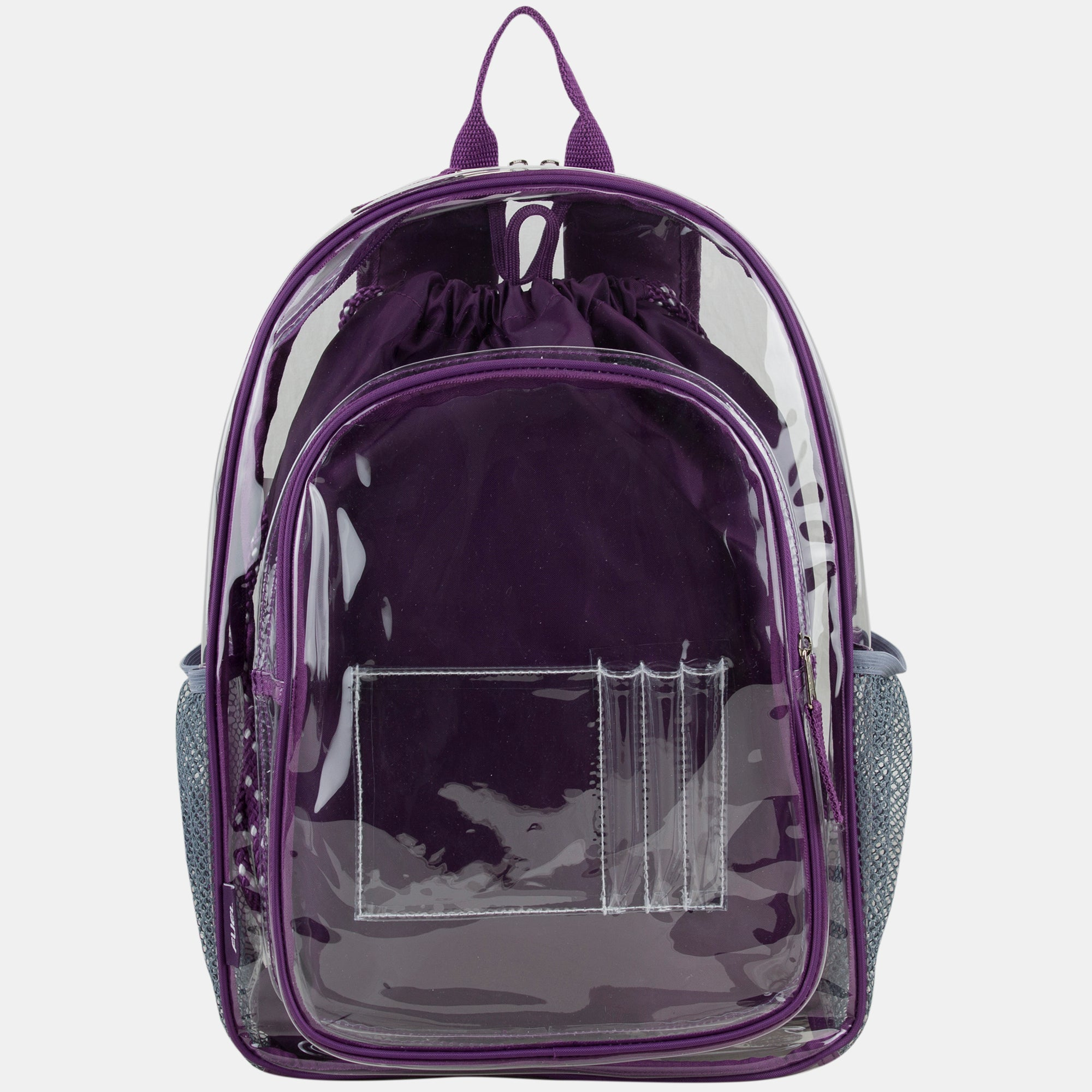 FUEL Clear Backpack and Cinch Sling Bundle Set, Transparent