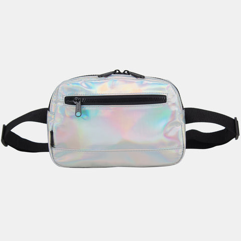 Fuel Fashion Iridescent Hip Pack/Belt Bag with Front Easy Access Pocket