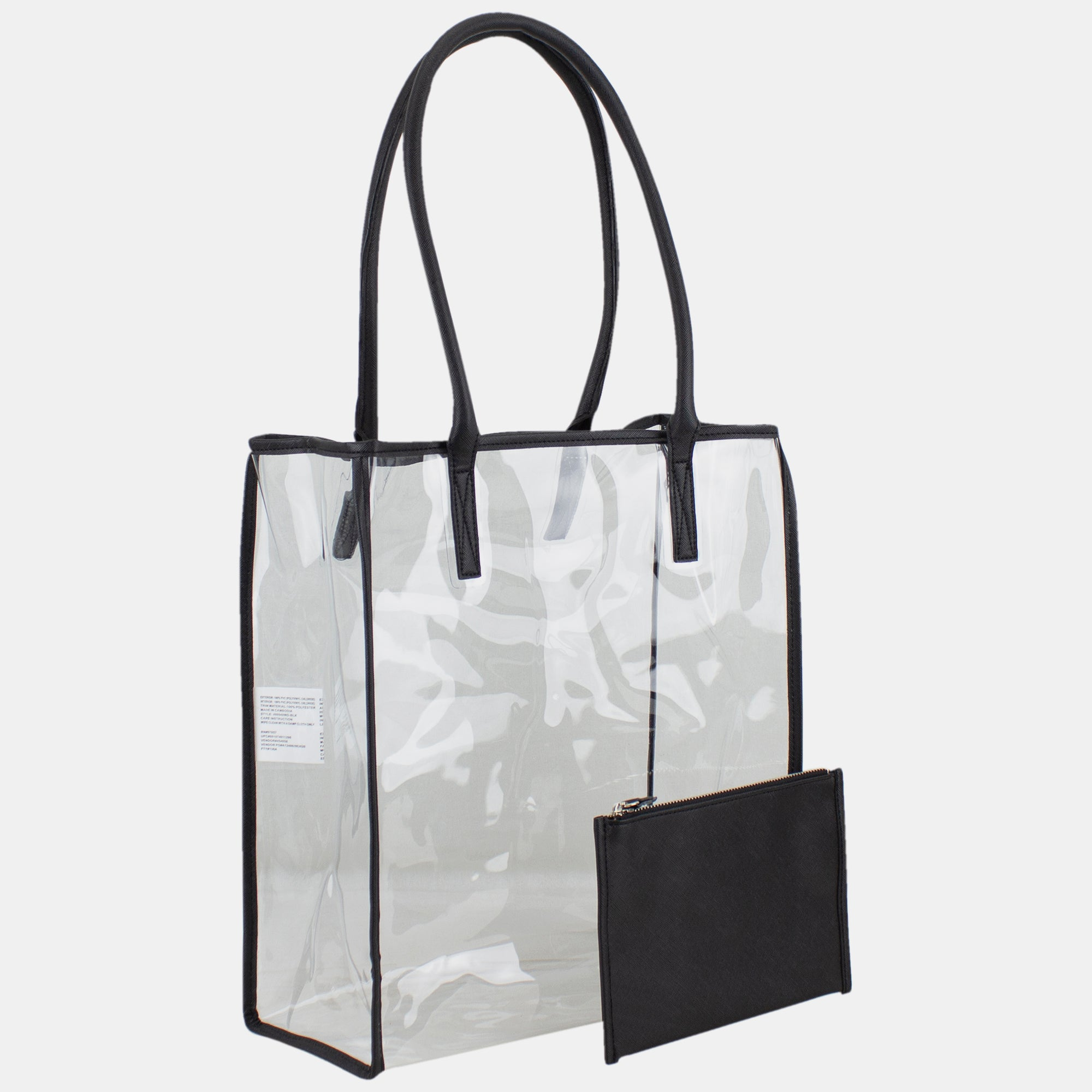 BIJOUX LIMITED Clear Shopper with Removable Clutch