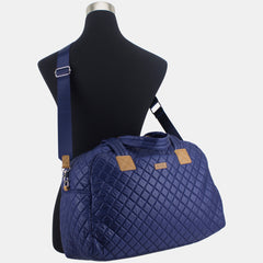 BODHI Quilted Luxe Weekender with Trolley Sleeve and Detachable Crossbody Strap