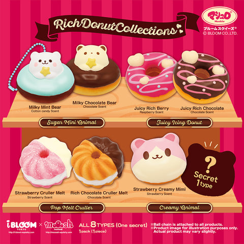 Rich Donut Collection Mini Donut Squishy