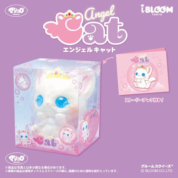 Angel Cat Squishy Savon displayed in its box