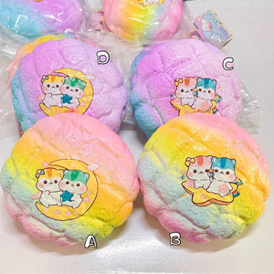 Colorful Poli Melonpan Bun Squishy