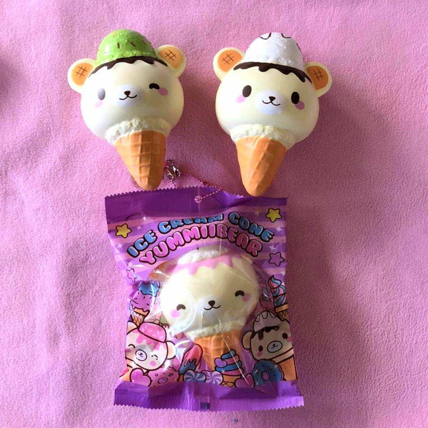 YummiiBear Jumbo Ice Cream Cone Squishy by CreamiiCandy - Bunnifulwishes