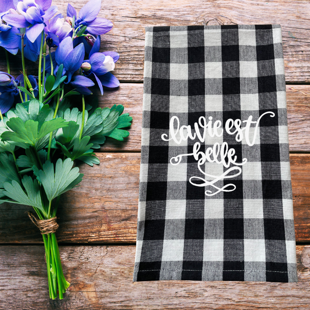 Buffalo Check French Country Farmhouse Kitchen Towel