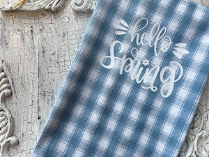 Blue Pastel Buffalo Check Spring Kitchen Towel