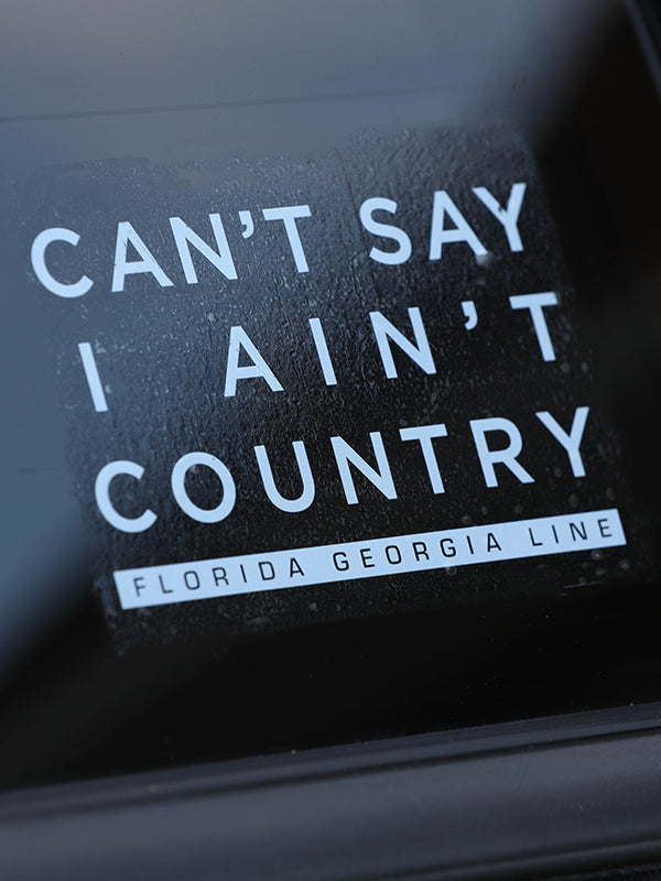 Florida Georgia Line CSIAC Decal