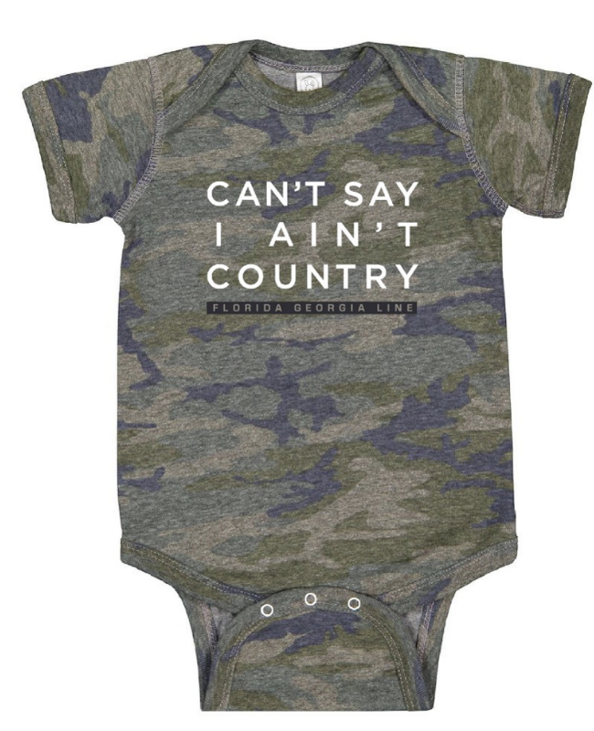 Florida Georgia Line Country Camo Onesie