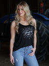Florida Georgia Line Ladies Black Shine On Loose Fit Tank