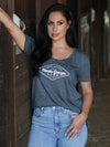 Florida Georgia Line Ladies Antique Denim Stitch Tee