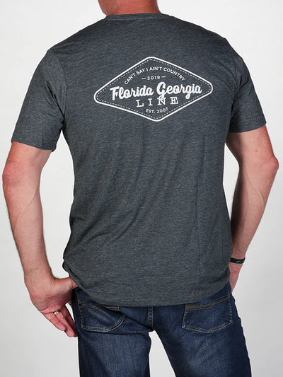 Florida Georgia Line Men's Antique Denim Stitch Tee