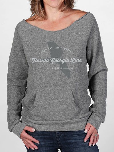 Florida Georgia Line Ladies Distressed Comfy Crew