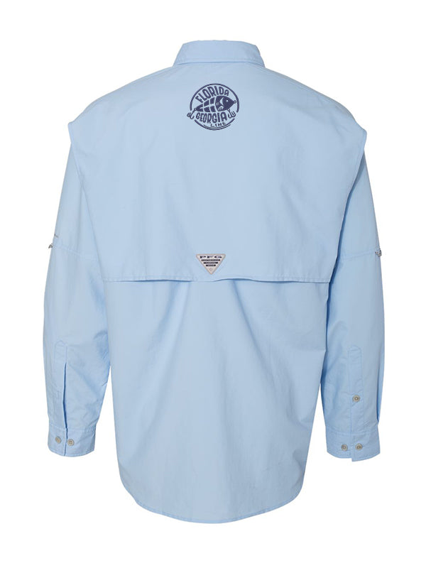 Florida Georgia Line Columbia Fishing Shirts (Long Sleeve) Light Blue