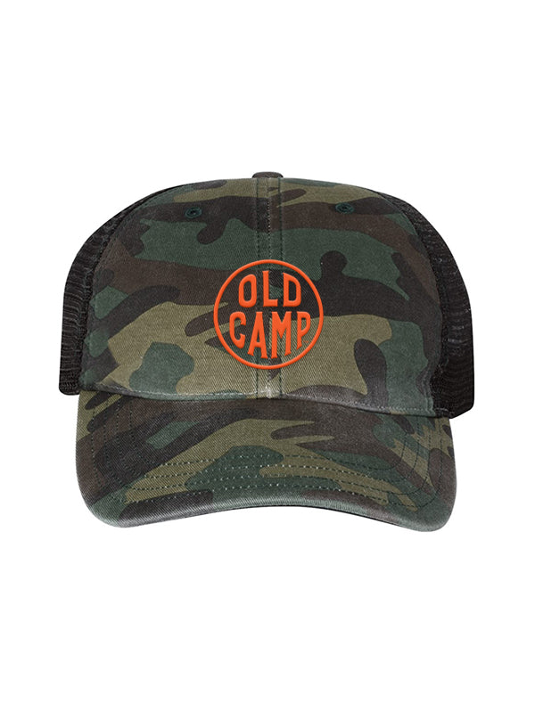 Old Camp Whiskey Camo Trucker Hat