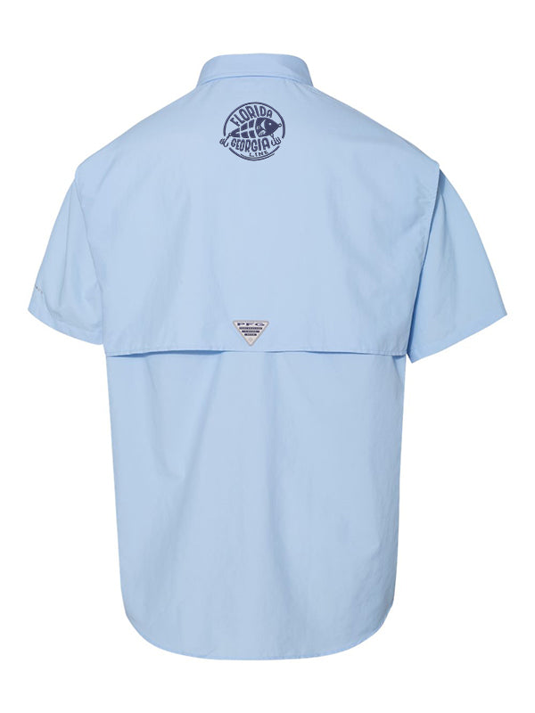 Florida Georgia Line Columbia Fishing Shirts (Short Sleeve) Light Blue
