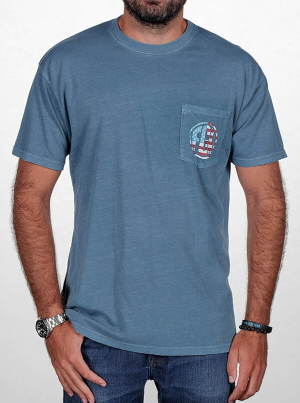Florida Georgia Line Men's Patriotic Pocket Tee