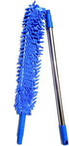 Flexible Microfiber Cleaning Brush With Extendable Rod (Multi-colour)