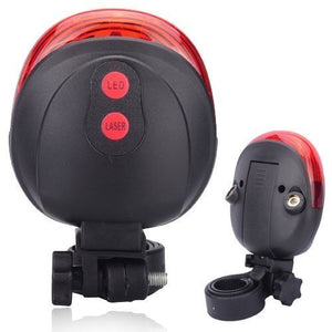 BULFYSS  LED-Laser Tail Light, Zoomable Bicycle Headlight-Combo