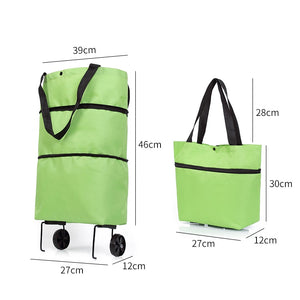 Folding Shopping Pull Cart Trolley Bag
