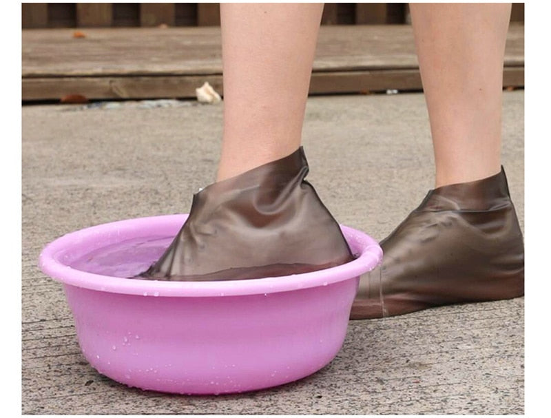 Outdoor latex shoe cover rainy