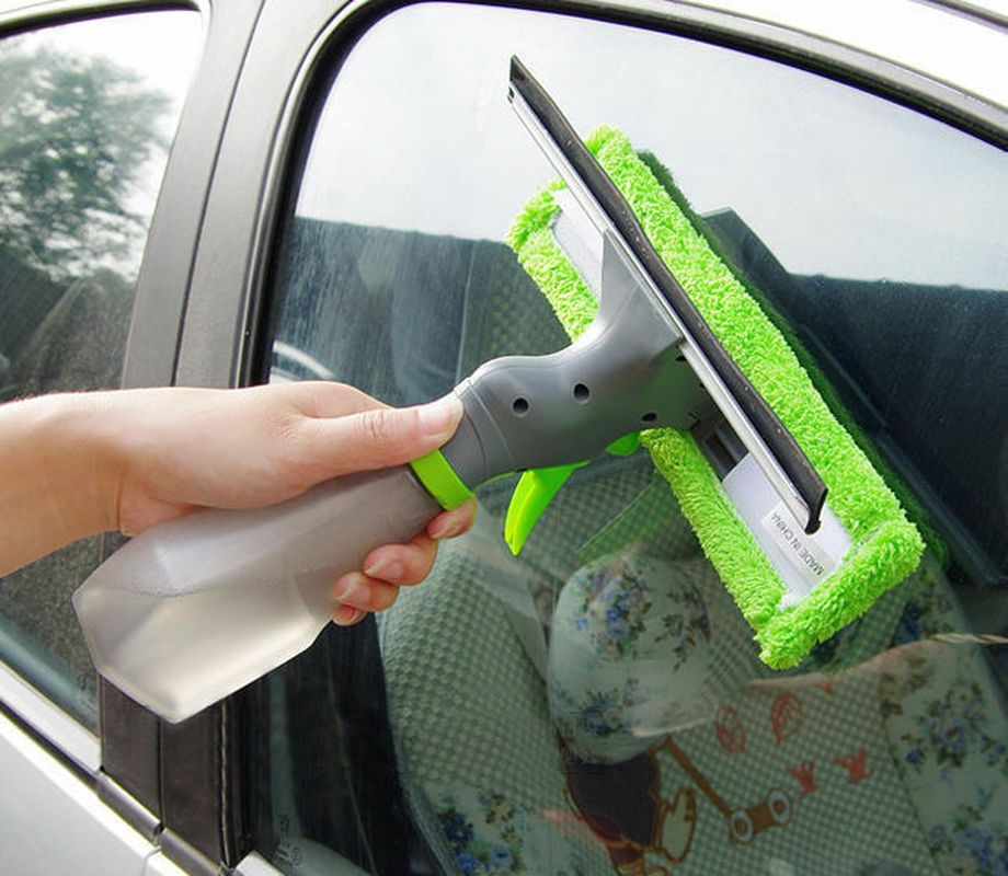 3 In 1 Spray Window Cleaner Wiper Glass