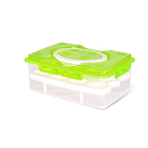 Double Layer Plastic Egg Box 32 grid