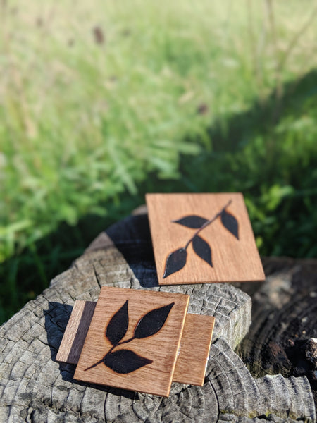 Fauna Wood Burned Barrettes