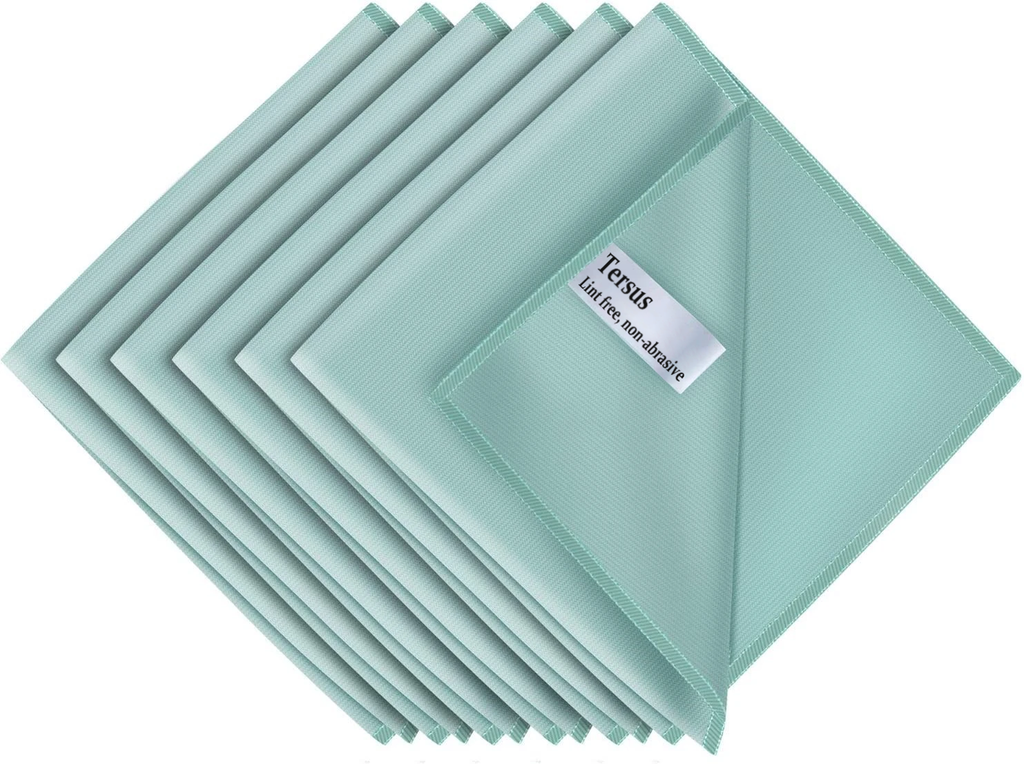 "Tersus Microfiber Cloths for Glass, Pack of 6, 35 x 40 cm 13.7"" x 15.7"""