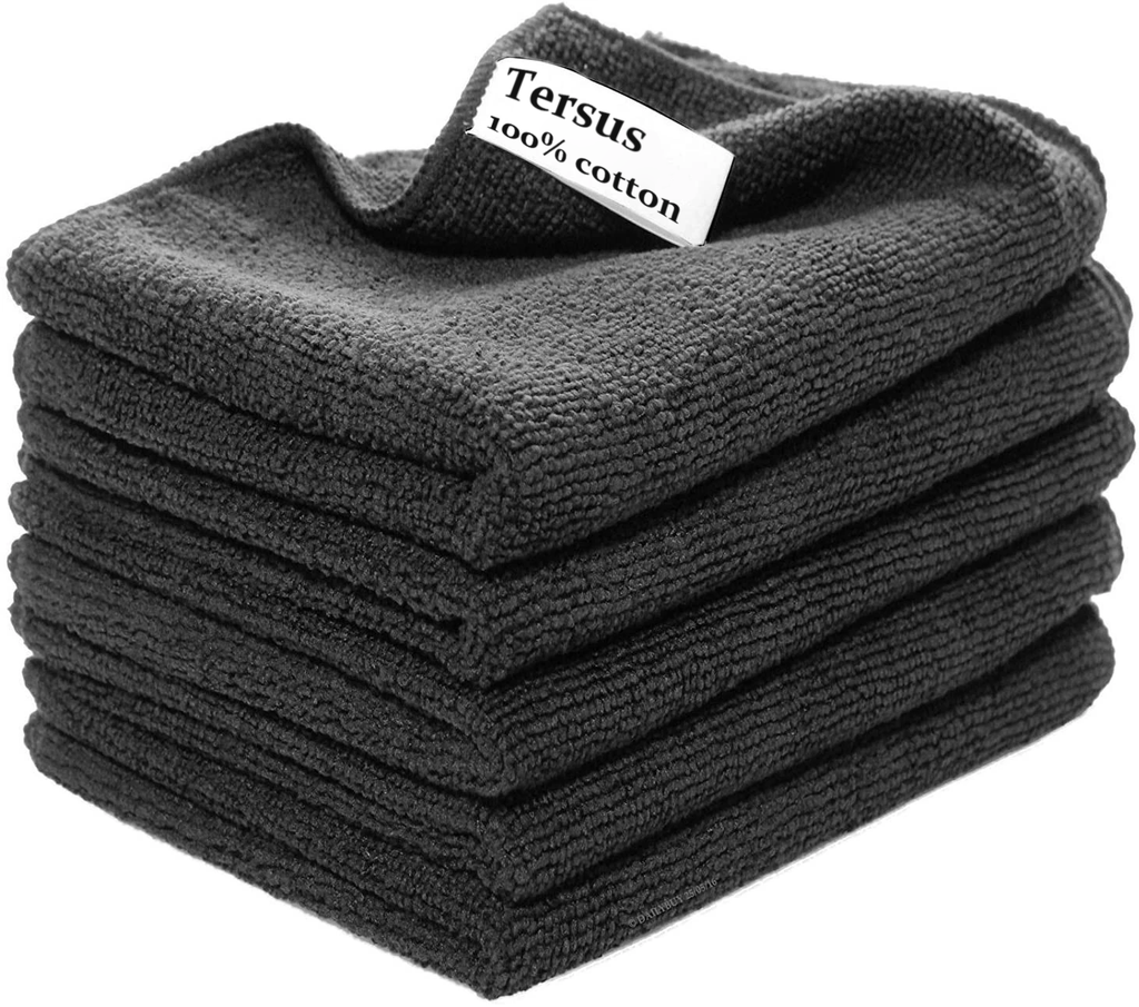 Tersus Microfibre dish Towels, Highly Absorbent, Thick and Lint-free Kitchen Towels, 45x65cm, Set of 5
