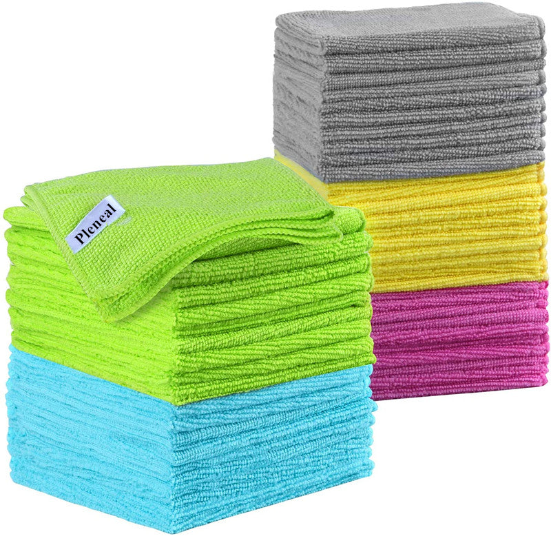 Pleneal Microfiber Cleaning Cloths – Perfect for Cleaning Eyeglasses, Camera Lenses, iPad, Tablets, Phones, iPhone, Android Phones, and Other Delicate Surfaces