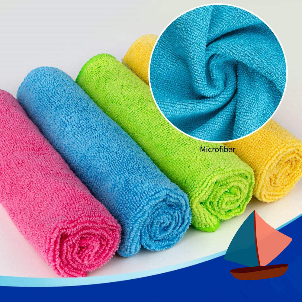 Pleneal Microfiber Cleaning Cloths All-Purpose Softer Highly Absorbent, Lint Free - Streak Free Wash Cloth for House, Kitchen, Car, Window, Gifts