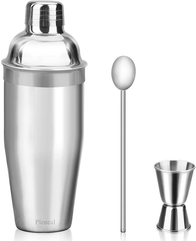 Pleneal Cocktail Shaker Set - Stainless Steel Cocktail Bar Set Mix Drink Shaker Kit - Essentials Martini Making Kit Drink Mixing Starter Set