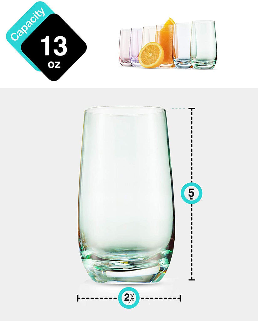 Pleneal Drinking Glasses Set Acrylic Glassware for Mixed Drinks, Water, Juice beer, cocktail | Glassware Set, Excellent Gift