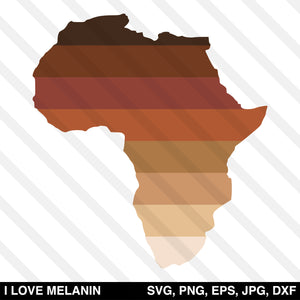 Africa Continent Shades Of Brown SVG