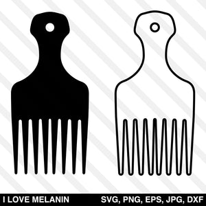 Afro Hair Pick SVG