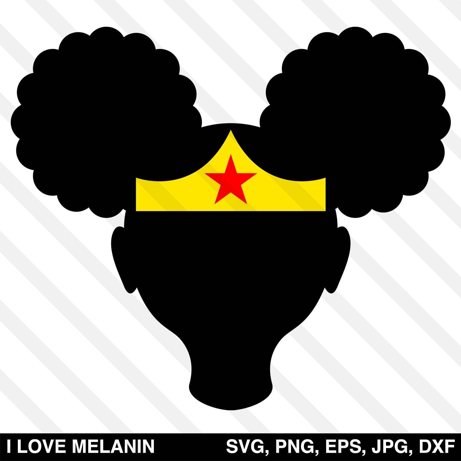 Afro Puffs Superhero Girl SVG