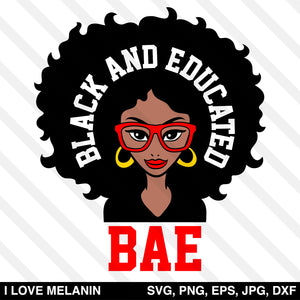 BAE Black And Educated Woman SVG