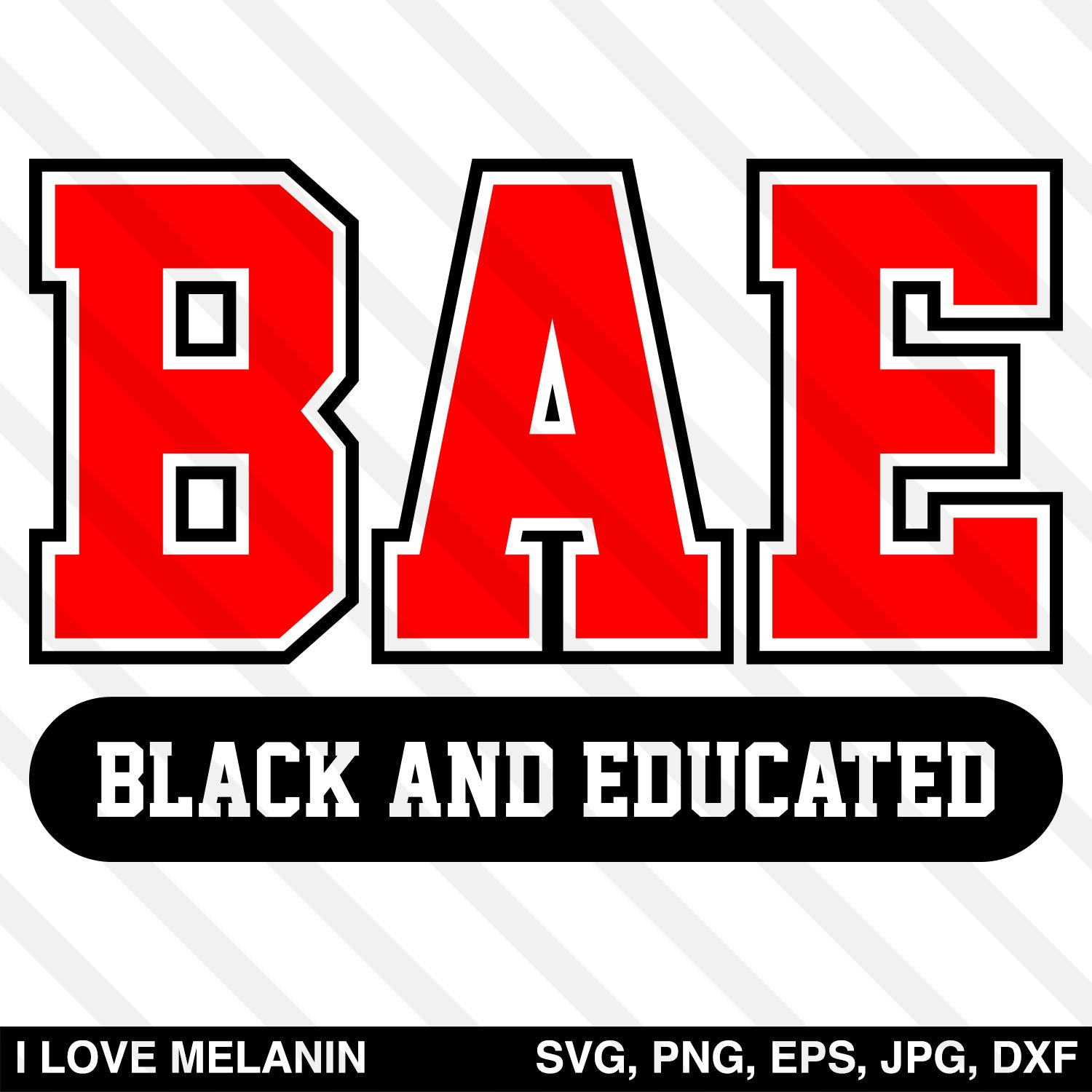 BAE Black And Educated SVG