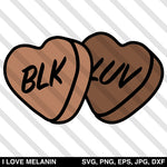 Black Love Candy Valentine Hearts SVG