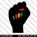 Black Power Fist Nails SVG