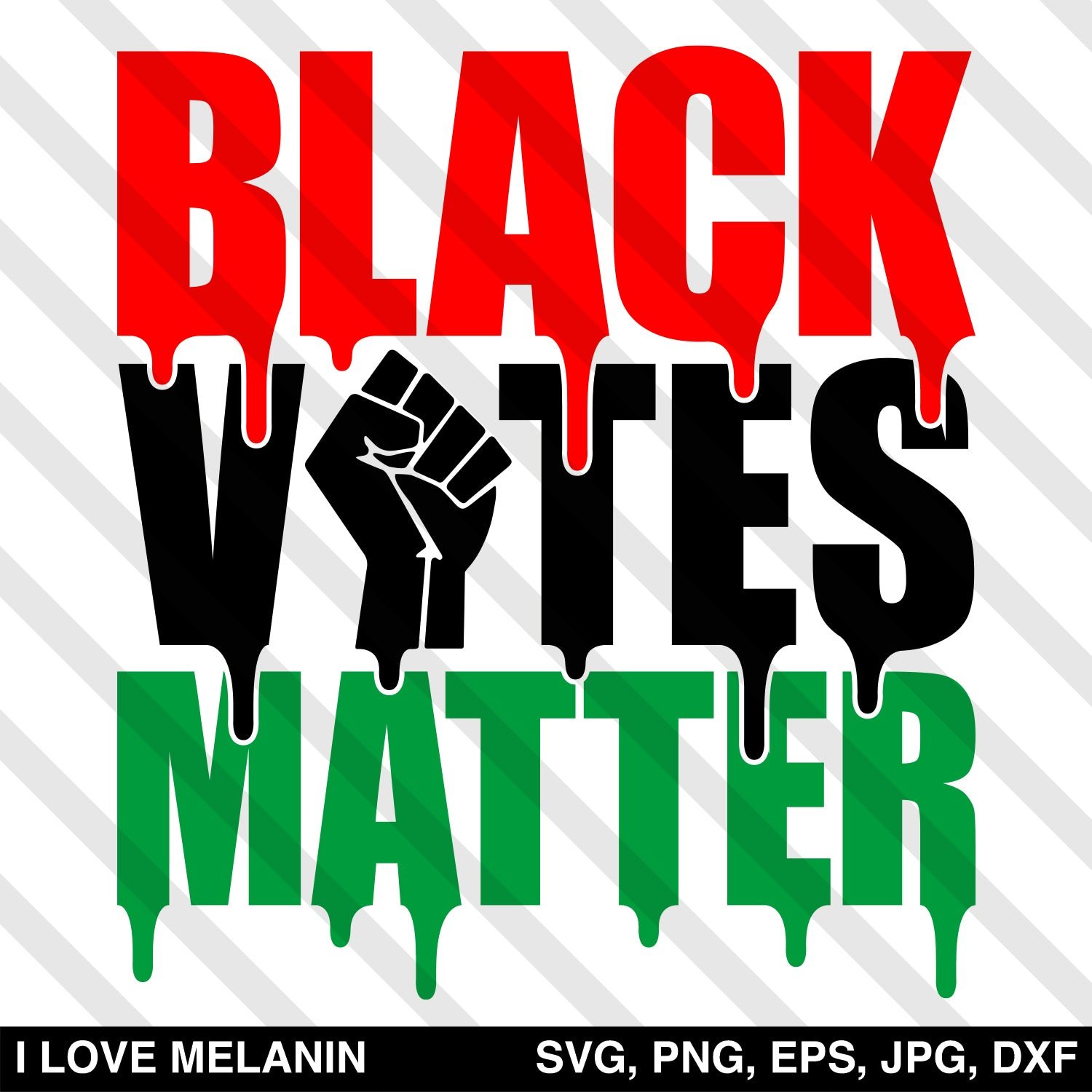 Black Votes Matter SVG