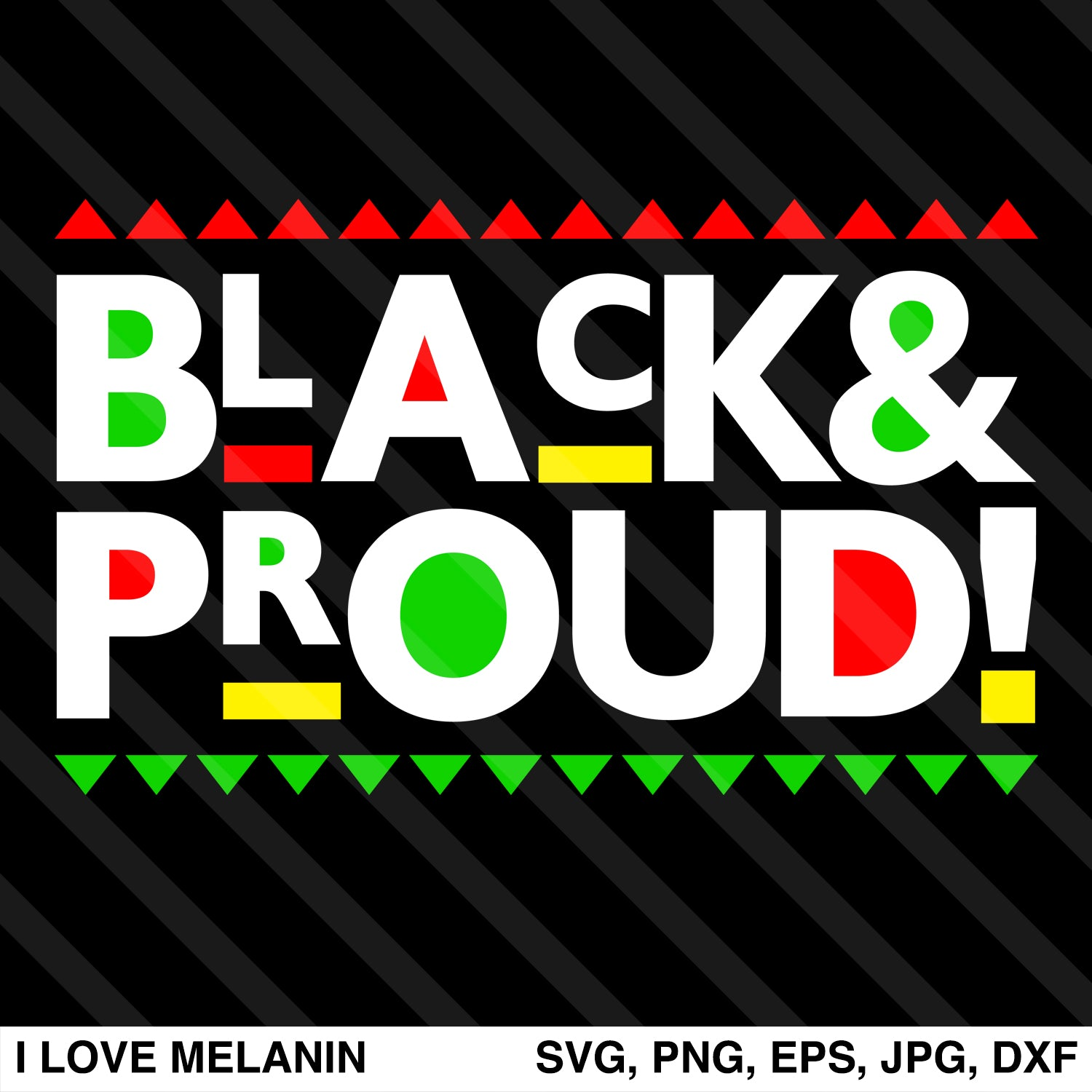 Black And Proud SVG