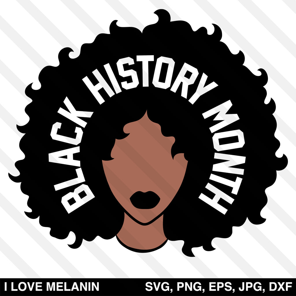 Black History Month Afro Woman SVG